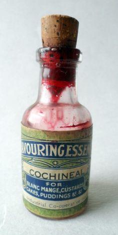 Antique Vintage Kitchen Art Nouveau Preston Industrial Co-Operative Co Op Bottle Cochineal Flavouring Essence Circa 1900s #FollowVintage