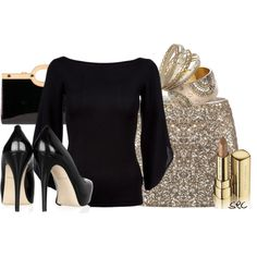"""""""Black and gold 2"""" by coombsie24 on Polyvore"""