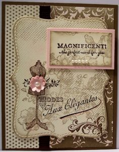 Magnificent Stampin' Up! card!  Top Note