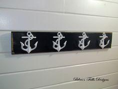 4 Anchor Coat Rack / Anchor Hook / Nautical Nursery / Beach House Decor / Lake House / wall Rack / Sailor / Boat / Towel Rack / Bathroom