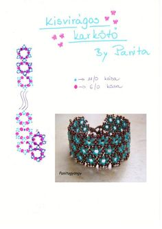 floral patterns, bead bracelet, bracelets, bracelet pattern, panita, tutorial, gyöngyékszerek, floral designs, jewelri
