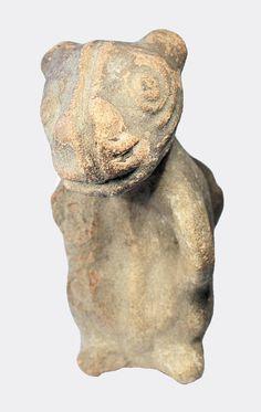 Pre-Columbian zoomorphic pottery vase