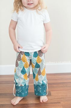 Free PDF Pattern & Tutorial: Charley Harper Flannel Pajama Pants {by Jess of Craftiness Is Not Optional}