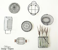The Creek Line House: Why you really should hang baskets on your walls.