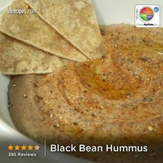 Black Bean Hummus from Allrecipes.com #myplate #protein