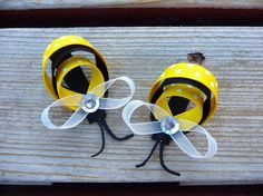 bumble bee hair pins