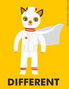 Ash from Fantastic Mr. Fox print via Etsy