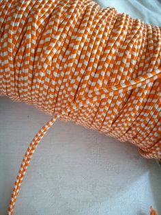 Vintage orange and white french soutache braid