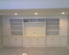 Basement....Built-in media center by JB Designs, via Flickr