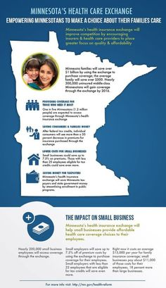 Check out this graphic to learn what a Minnesota health insurance exchange means for your family, your business, and our state. Tumblr