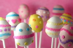 easter egg cake pops!! how cute!