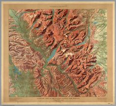 Glacier National Park (1914) | US Department of the Interior : Visual Loop #cartography