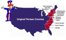 Learn about the original 13 colonies from CongressForKids.net