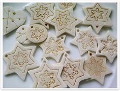 Adornos navideños en pasta de sal