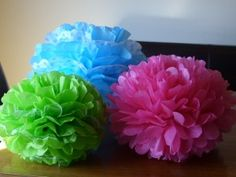 tissue pompoms in green and brown perhaps?