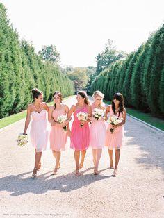 Mix + Match Bridesmaid Dresses | #myweddinginvite | #weddinginvitations | For all your wedding invite needs, visit www.myweddinginvite.co.nz| Customizable & DIY Printable