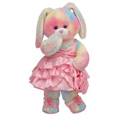 Sweetheart Watercolor Bunny reminds me of my daughter ;)    #BUILDABEAR #EASTER