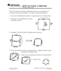 How to fold a trefoil. girlscout