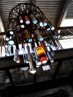 flashlight chandelier