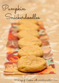 Pumpkin Snickerdoodles combines two classic flavors in one cookie. What could be better than that?