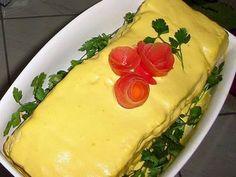 Receita de Torta fria vegetariana verde e amarela - Tudo Gostoso