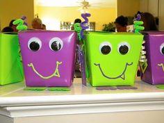 Cajitas para cotillon birthday party favors, monster parti, gift boxes, monster favor, goody bags, goodie bags, favor boxes, kid birthdays, kid birthday parties