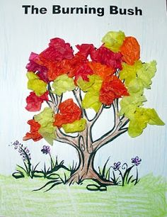 "Fun ""Burning Bush"" craft for the kids"