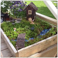 fairy garden idea, fairi hous, fairi garden, the bridge, house furniture, fairy houses, fariy garden, garden houses, garden buildings