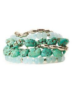 lucky brand multi stone strand bracelet