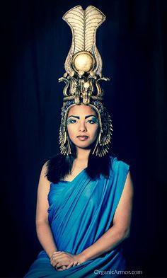 Cleopatra headdress worn by Luna Vatra, shot by Cerebral Aperture http://bit.ly/1oaTNKF