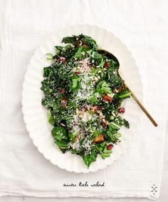 Winter Roasted Kale Salad #glutenfree #antiinflammatory #dairyfree #vegan #vegetarian