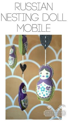 Russian Nesting Doll Nursery Mobile