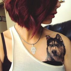 Awesome dog piece by Jamie Navarro TattooStage.com - Ratings and reviews for tattoo artists and studios. #tattoo #tattoos #ink