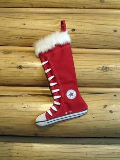 Converse stocking for Santa