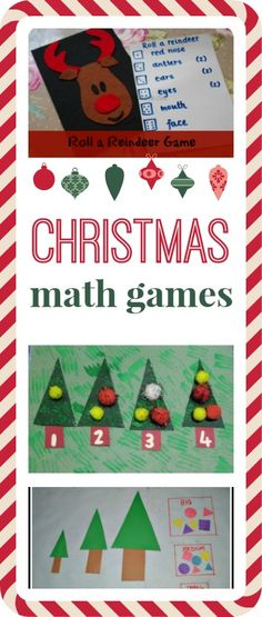 Five fun Christmas number and letter games to play!