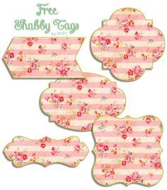 DIY Printable! Free Shabby Floral Printable Tags ♥