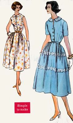 1950s Simplicity 2461Softly Pleated FULL Skirt by sandritocat, $20.00