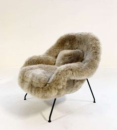 For Sale on 1stdibs - One-of-a-kind vintage Eero Saarinen Womb chair restored in Brazilian cowhide We collected this beauty for its icon status. 'Eero Saarinen designed the