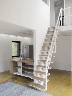 space saving stairs to attic/loft space
