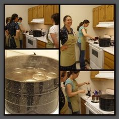 Jam canning party-water bath canning cheat sheet