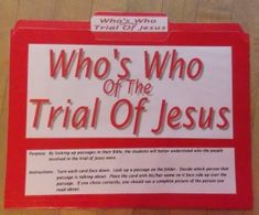 Who's Who In The Trial of Jesus