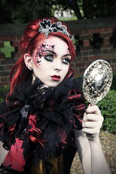 Face paint on pinterest face paintings painted faces for Gothic painting ideas