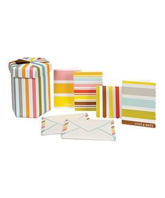 Take a look at this Stripe Stationery Set by Meri Meri on #zulily today!