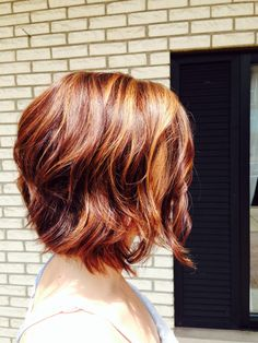 wavy short layered bob hairstyle