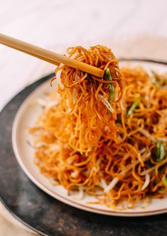 Cantonese Soy Sauce Pan-Fried Noodles | The Woks of Life