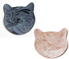 Marbled Leather Cat Coasters. Gotta keep those counters clean.