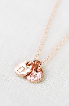 Makana necklace - rose gold monogram necklace, https://www.etsy.com/listing/172934393