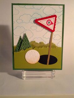 Golf card  Stampin' Up! Punch Art