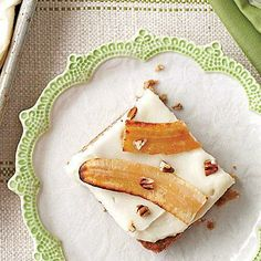 Banana Snack Cake | Garnish this fun cake with Glazed Banana Slices for a chic, modern spin, or simply gild it with the Cream Cheese Frosting. | SouthernLiving.com