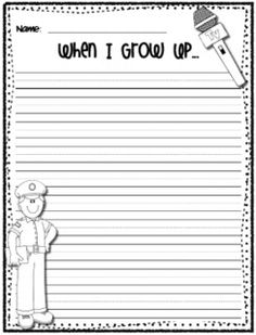 heeren happen, classroom, write freebi, when i grow up writing prompt, studi write, write paper, writing papers, social studies communities, educ